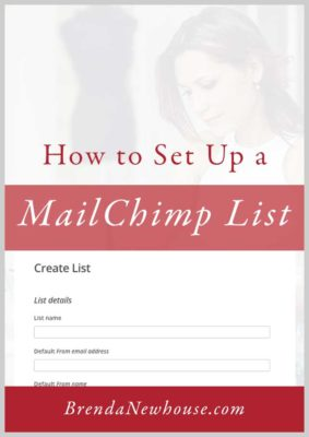 how to set up a MailChimp list